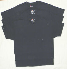 Mens Hanes 100% Cotton Tagless BEEFY-T Tees Size S Small Lot of 3 Navy NEW