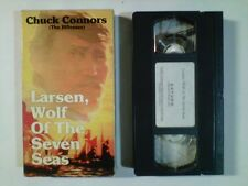 LARSEN, WOLF OF THE SEVEN SEAS (VHS 1988) CHUCK CONNORS (THE RIFLEMAN) RARE OOP!