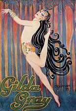 ART affiche GILDA GRIS DECO Dance 1925 Imprimer