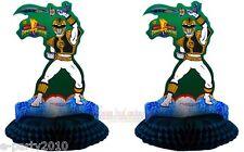 Power Rangers VTG (2) HONEYCOMB CENTERPIECE Decoration ~ Birthday PARTY Supplies