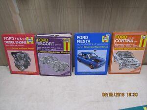 Ford Escort Fiesta Cortina + Diesel engine Haynes workshop manuals