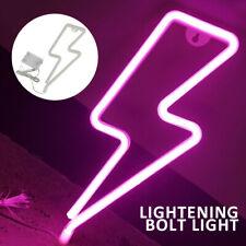 Pink Lightning Shaped Neon Light Led Neon Signs Wall Light Sign Light Up Gift