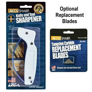 AccuSharp 001C Knife Sharpener Tungsten Carbide - Optional Replacement Blades