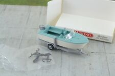 Wiking 009502 Motor Boat w/ Trailer 1:87 HO Scale
