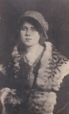 1920-1930 RPPC shows woman dressed in what looks like Gangster's Moll attire