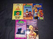Sesame Street VHS Lot 5 Sing Along Word Play Letters Chrismas Ernie's little Lie