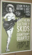 """Southern Culture On The Skids RARE 2000 GIG POSTER """"Learn Guitar In Just 7 Days"""""""