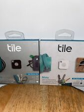 NEW Tile Pro Smart Tracker Black & Tile Mate White Duo