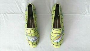 "NEW! Women's $525 Stubbs & Wootton L.E. Lime ""ACUARIO"" Slippers Loafers Shoe 8.5"