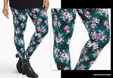 TORRID NEW Green FLORAL Print Leggings Womens Plus Size 4X 26 Stretch Pants CUTE