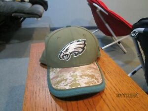 Philadelphia Eagles New Era Youth Salute to Service Cap 2014 Used/Outstanding