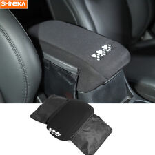Black Center Console Armrest Box Cover Pad With Bags For Jeep Cherokee 2014 2019 Fits Jeep Cherokee