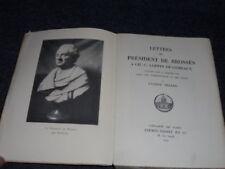 BEZARD LETTRES DE BROSSES LOPPIN DE GEMEAUX 1929
