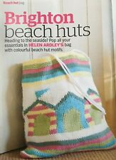 KNITTING PATTERN Beach Hut Motif Bag Holiday Handbag Seaside Theme Rowan PATTERN