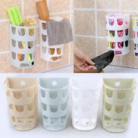 Kitchen Grocery Bag Holder Dispenser Wall Mount Plastic Bag Sundries Storage Box