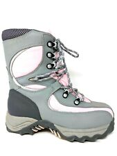 Bass Snowbound Pink Gray Lace Up Insulated Snow Ski Winter Boots Womens Size 6M