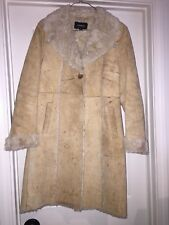 Women's Size S Express Suede Sherpa Coat Fully lined fur So Warm & Cozy!