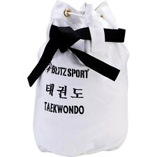 White canvas bag taekwondo bag bag bag ju Shadow WTF ITF Tang on do karate