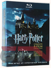 Harry Potter: Complete 8-Film Collection (Blu-ray, 2011, 8-Discs) Brand New!