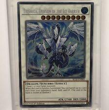 Yu-Gi-Oh! Trishula Dragon of the Ice Barrier BLLR-EN060 Secret Rare 1st Ed Mint