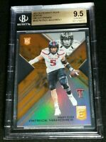 BGS 9.5 POP 2 RC PATRICK MAHOMES II *0 HIGHER *ORANGE DIE-CUT ROOKIE *2017 Elite