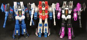 Transformers Henkei Starscream, Generations Thundercracker, and Classics Skywarp