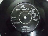 "MANFRED MAN 45 POP 1346 RARE SINGLE 7"" INDIA INDIAN 45 rpm VG+"