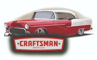 CRAFTSMAN TOOL STICKER 55 CHEVY SEXY DECAL MECHANIC TOOLBOX SIGN CHEST USA