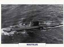 1954 USS NAUTILUS (SSN-571) Nuclear Submarine / Warship Photograph Maxi Card /