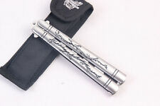 Style Butterfly Practice Steel Metal Comb Trainer Knife Cool Balisong Stainless