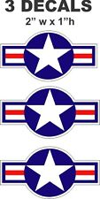 3 United States Airforce Air Force Star Vinyl Decals
