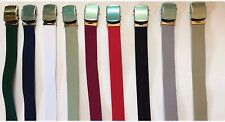 NEW Military Web Canvas Belts w/ Buckle Many Colors 100% Cotton 45 Inches Long