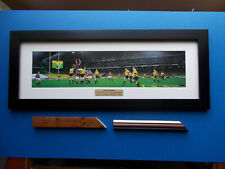More details for rugby union photo touch finder mounted and framed