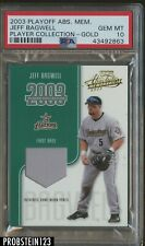 2003 Playoff Absolute Memorabilia Player Gold Jeff Bagwell PSA 10 POP 1