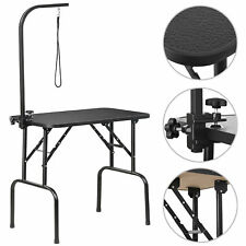 """32"""" Portable Pet Dog Grooming Table Foldable w/ Large Adjustable Arm/Noose Black"""