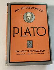 The Philosophy of Plato Edited Jowett Modern Library Edition 1956 Dust Jacket