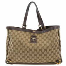 GUCCI  141472 Tote Bag GG Canvas Leather