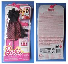 Barbie CFX92 DNV25, vestito nero e rosa scarpe borsa borsetta