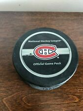 2008 Game Used NHL Stanley Cup Playoffs Puck Montreal Canadiens Phila Flyers