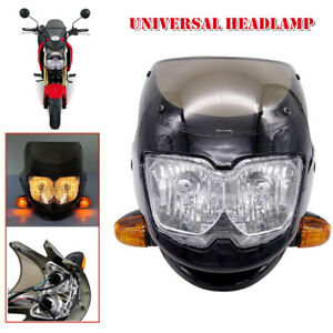 12V Universal Motorcycle Front Headlight With Turn Signal Low / High Beam Light