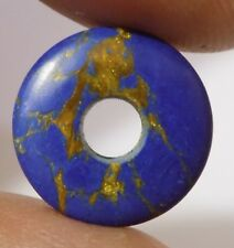 Blue Mojave Turquoise Donut Big Hole Coin Pendant Bead 12mm-25mm 2 Piece #DB-187