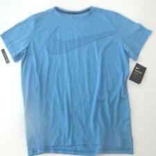 Nike Men Breathe Short Sleeve Training Top Shirt - BV2860 - Blue 484 - XL - NWT