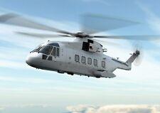 AgustaWestland AW101 Medium-lift Helicopter Wood Model Large