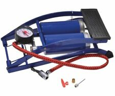Filmer 45099 Fußluftpumpe Doppelzylinder Fahrrad Luftpumpe Standpumpe Manometer