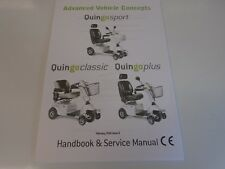 PRINT OFF OF A QUINGO PLUS MOBILITY SCOOTER HANDBOOK & SERVICE MANUAL.