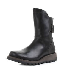 Zip Leather Mid-Calf Boots for Women