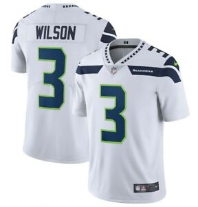 Russell Wilson #3 Seattle Seahawks Men's White Jersey