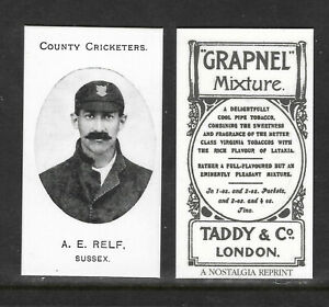 NOSTALGIA REPRINT TADDY & CO A.E.RELF SUSSEX COUNTY CRICKETERS