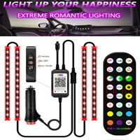PCS 12V Interior Car LED Bluetooth APP RGB Atmosphere Neon Light EL Bar Strip