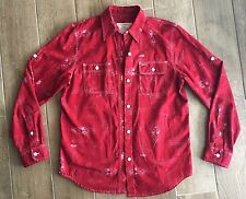 Ralph Lauren MARINE SUPPLY NAUTICAL Size Small Long Sleeve RED Button-down Shirt